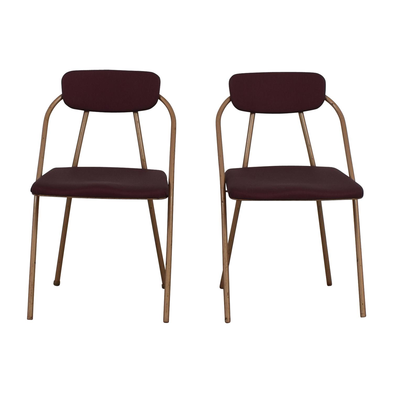1960s Purple Folding Metal Chairs nyc