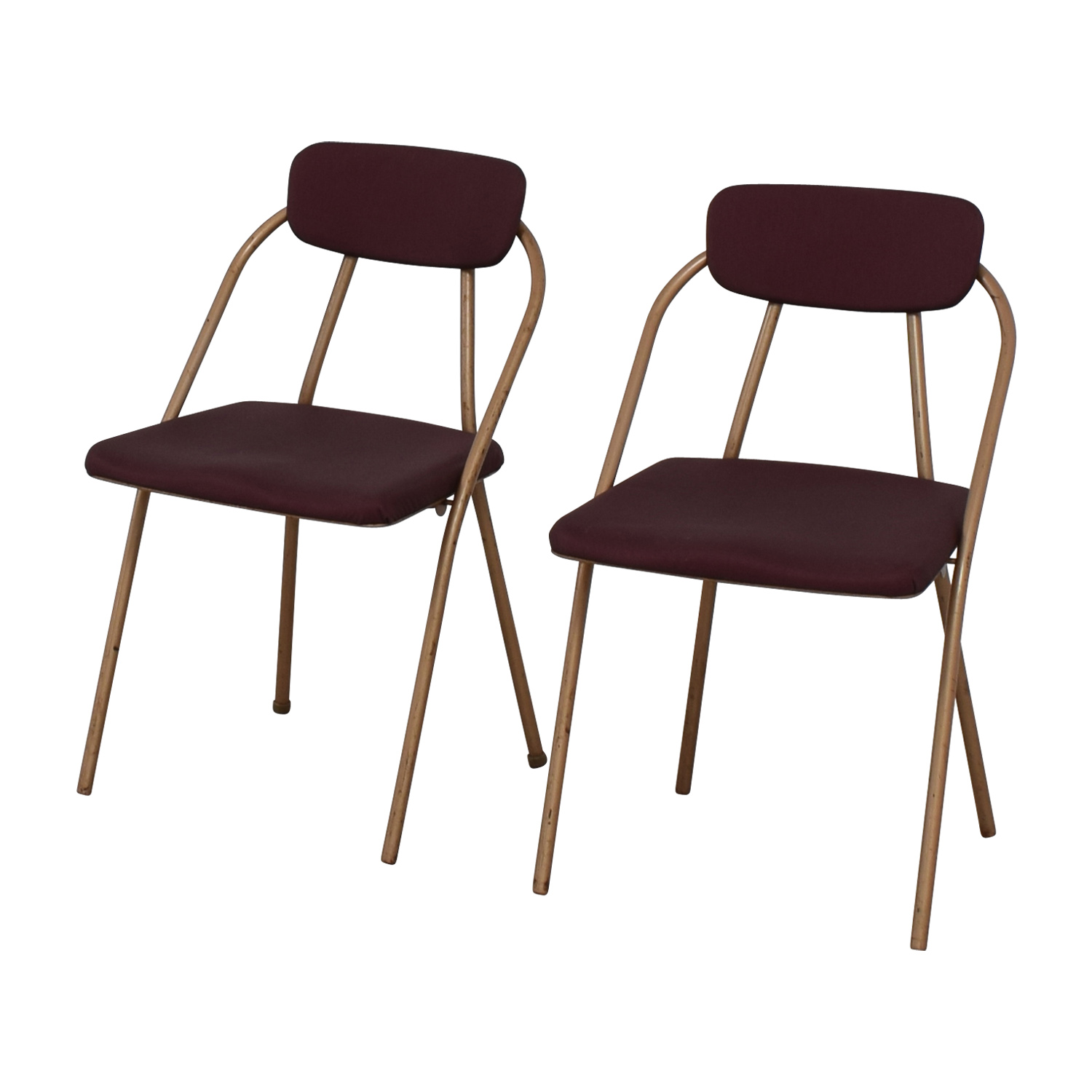 shop 1960s Purple Folding Metal Chairs Dining Chairs