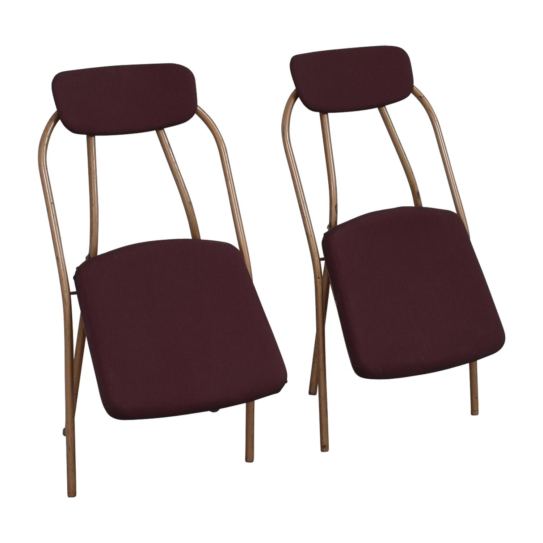 1960s Purple Folding Metal Chairs coupon