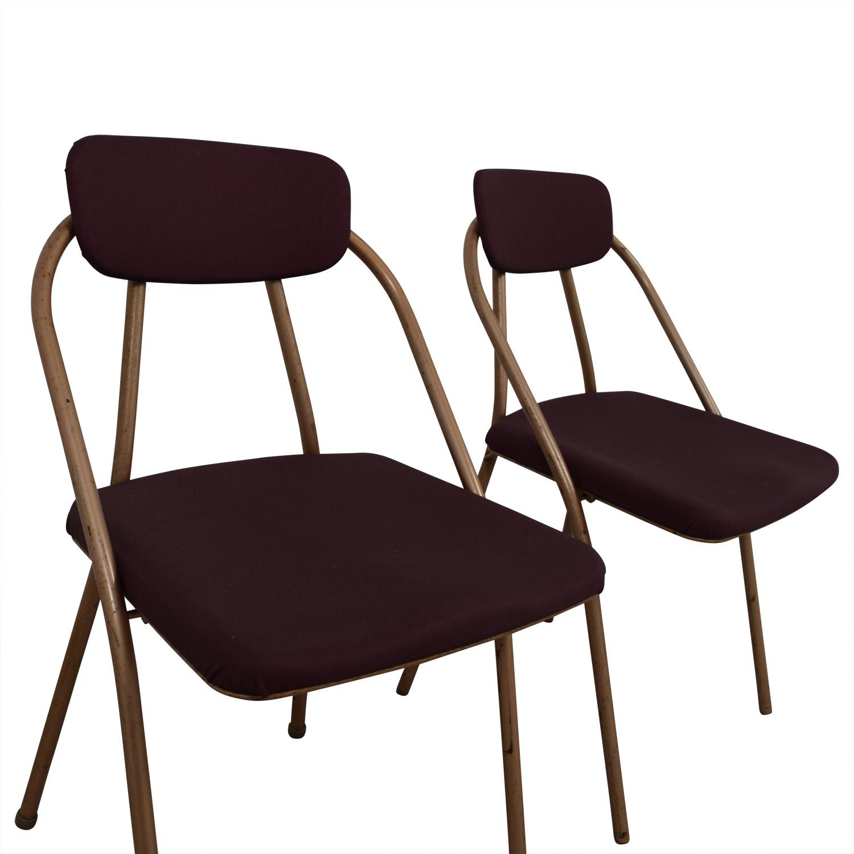 shop 1960s Purple Folding Metal Chairs online