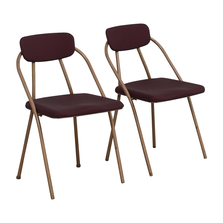 buy 1960s Purple Folding Metal Chairs