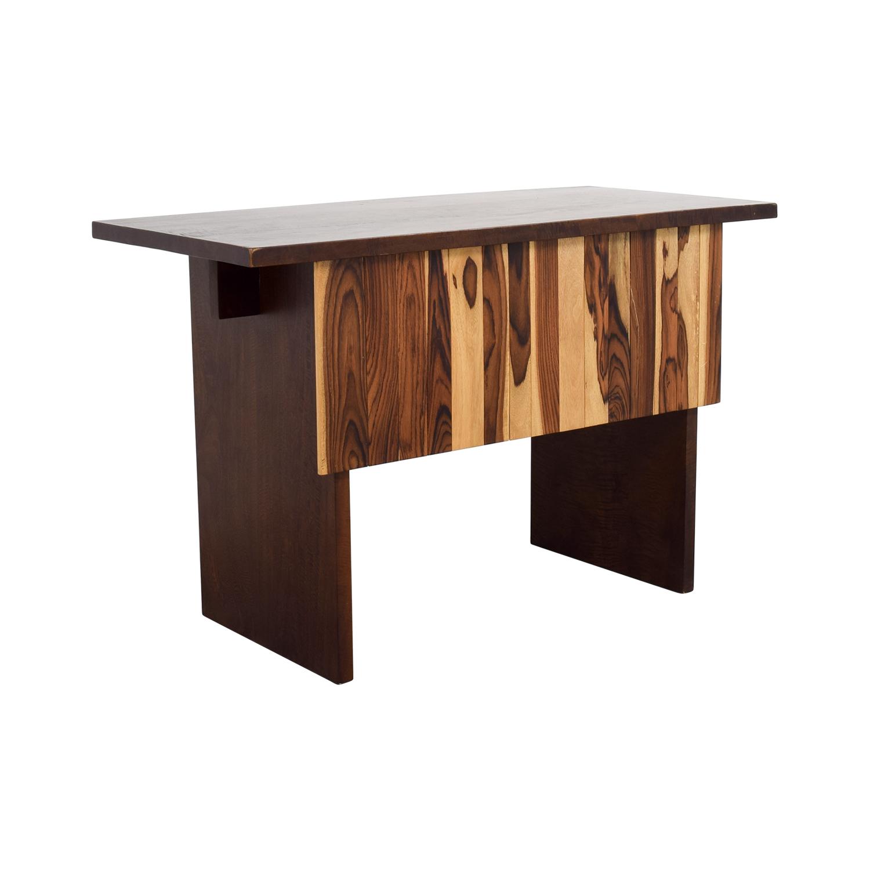 Custom Indonesian Hardwood Mango and Snokeling Wood Desk Home Office Desks