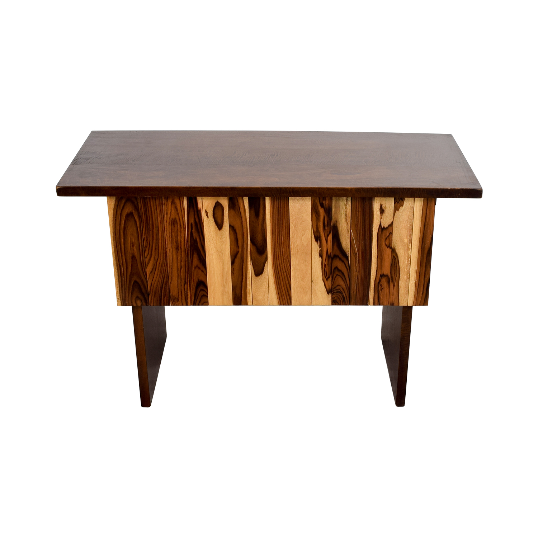 Custom Indonesian Hardwood Mango and Snokeling Wood Desk second hand