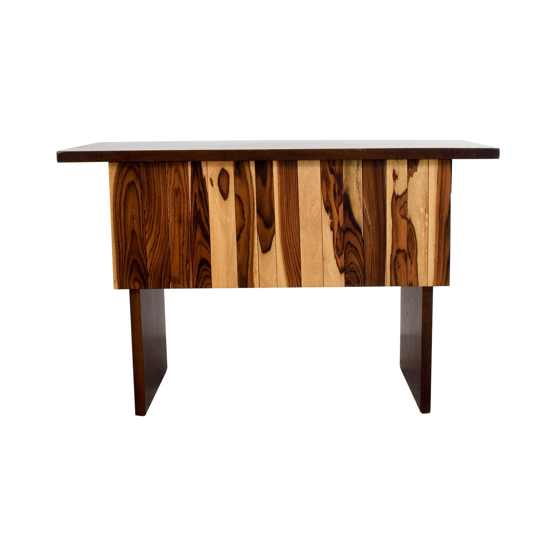 Custom Indonesian Hardwood Mango and Snokeling Wood Desk used