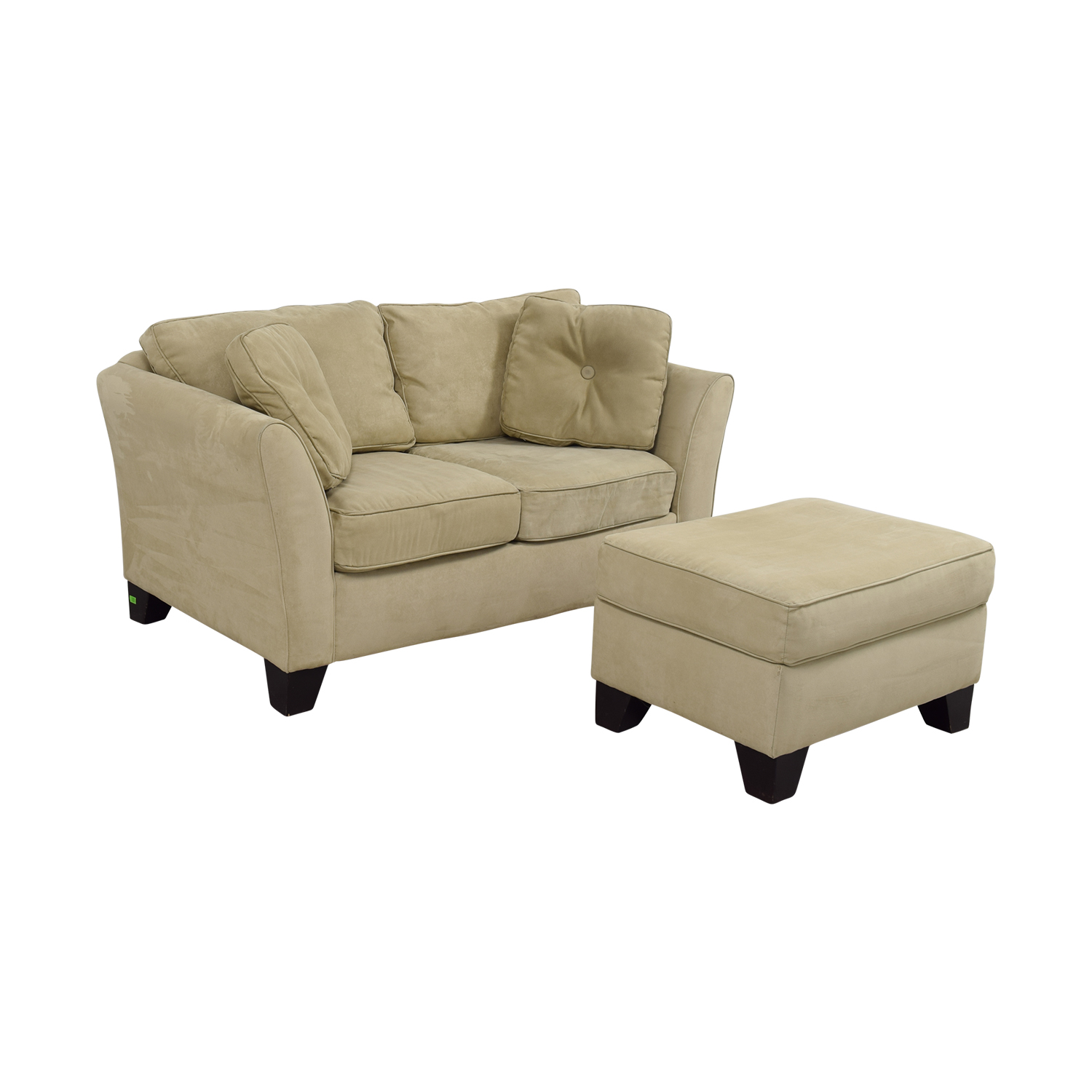 Macys Furniture Carle Place: Macy's Macy's Tan Loveseat With Ottoman / Sofas