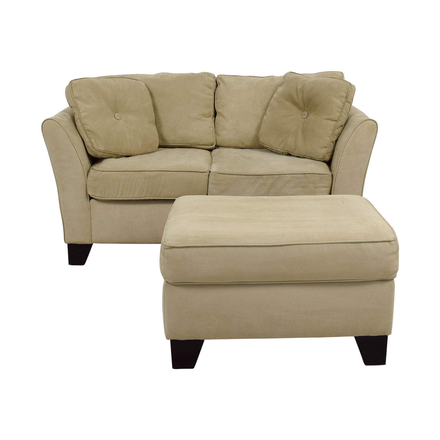 Macy's Macy's Tan Loveseat with Ottoman used