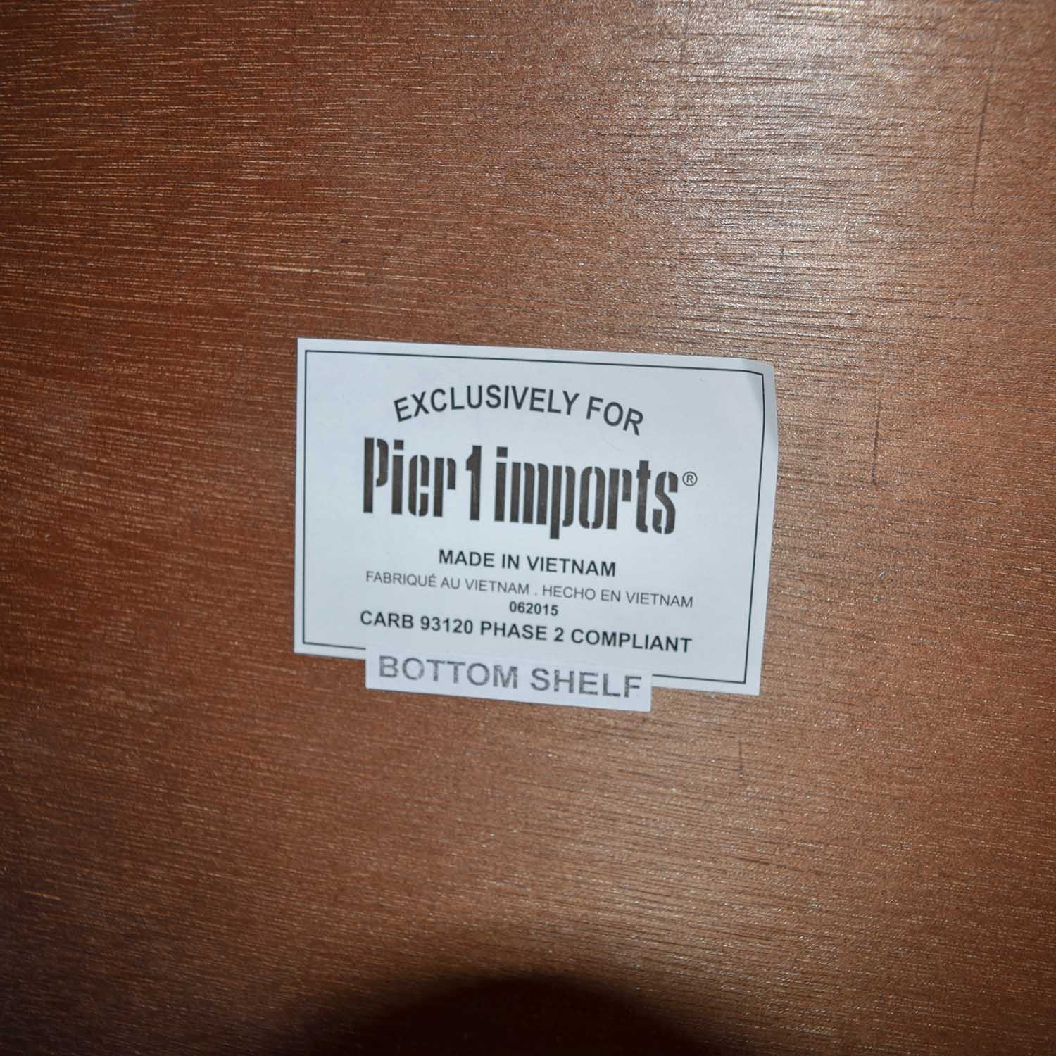 Pier 1 Pier 1 Wooden End Table dimensions