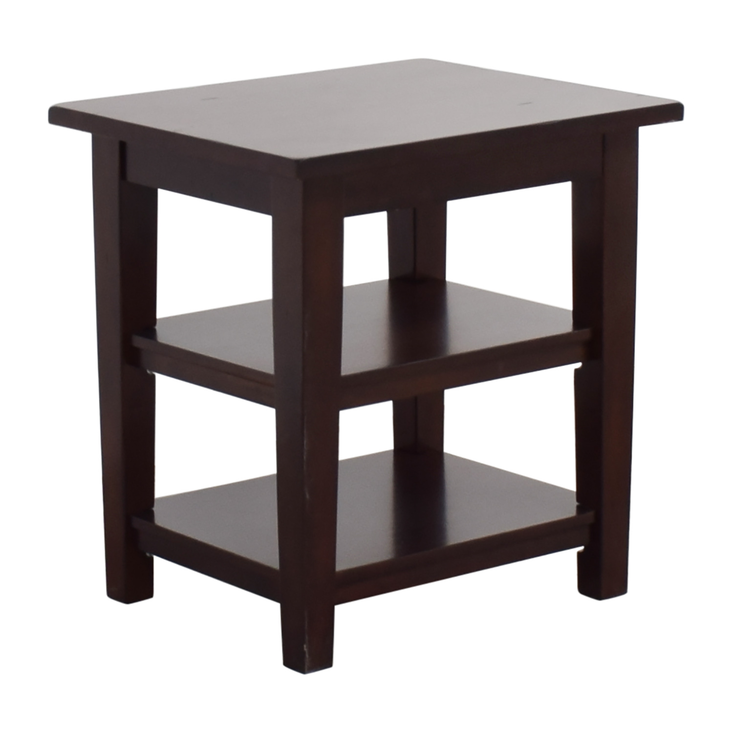 Pier 1 Wooden End Table / Tables
