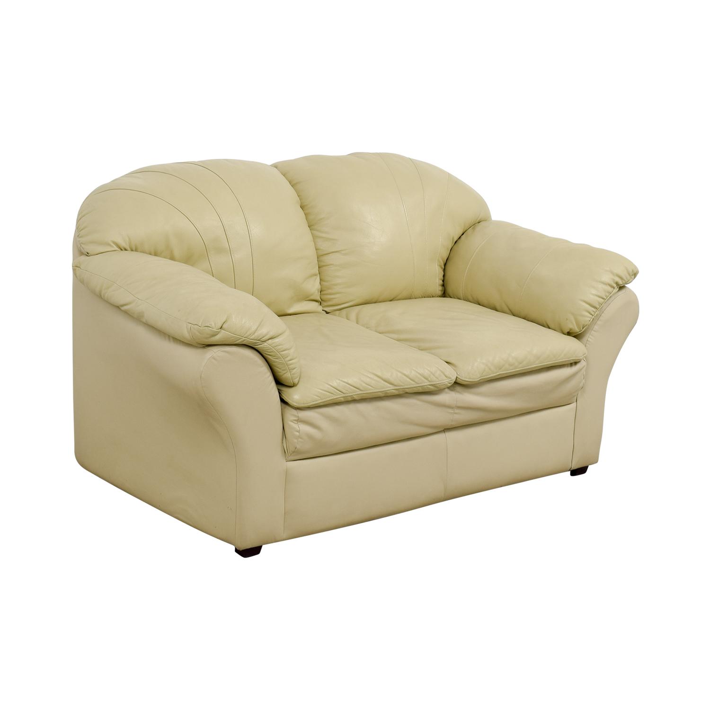 Mals Brooklyn Furniture Mals Brooklyn Furniture Vanilla Leather Love Seat Sofas
