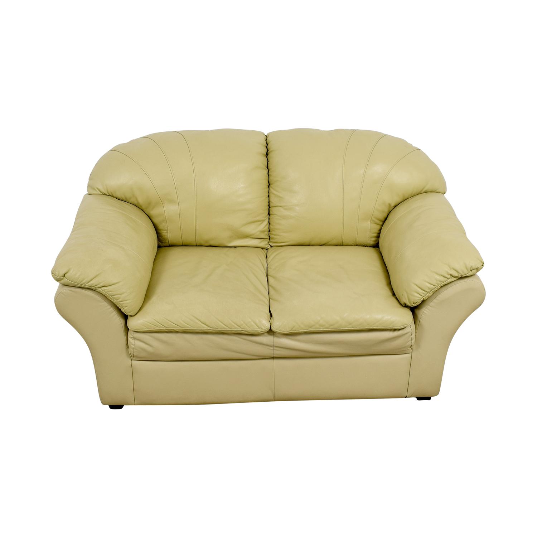 Super 86 Off Mals Brooklyn Furniture Vanilla Leather Love Seat Sofas Creativecarmelina Interior Chair Design Creativecarmelinacom