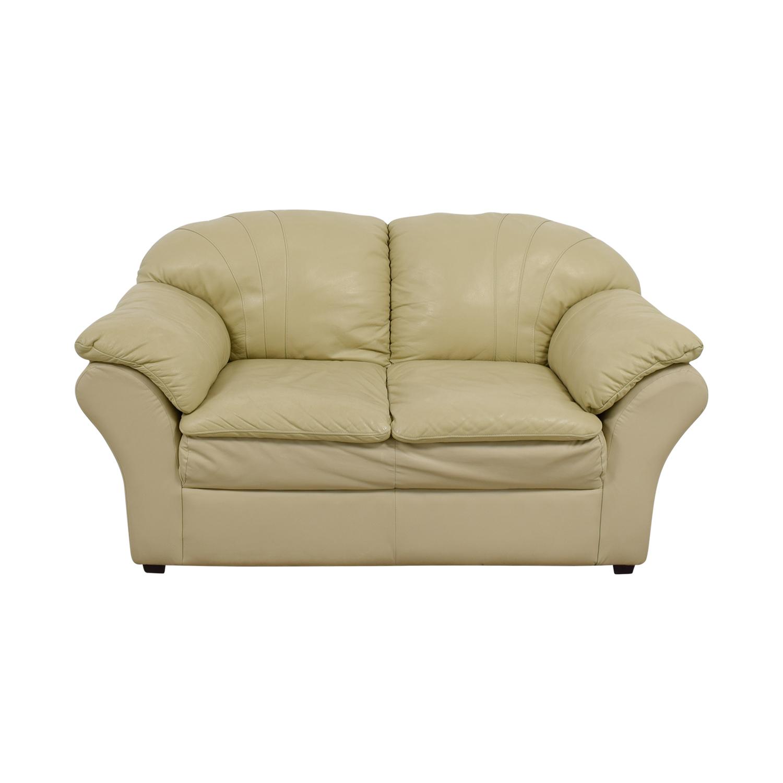 Mals Brooklyn Furniture Mals Brooklyn Furniture Vanilla Leather Love Seat used
