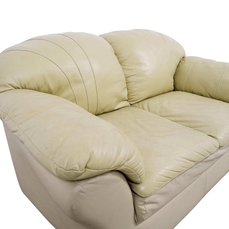 shop Mals Brooklyn Furniture Mals Brooklyn Furniture Vanilla Leather Love Seat online