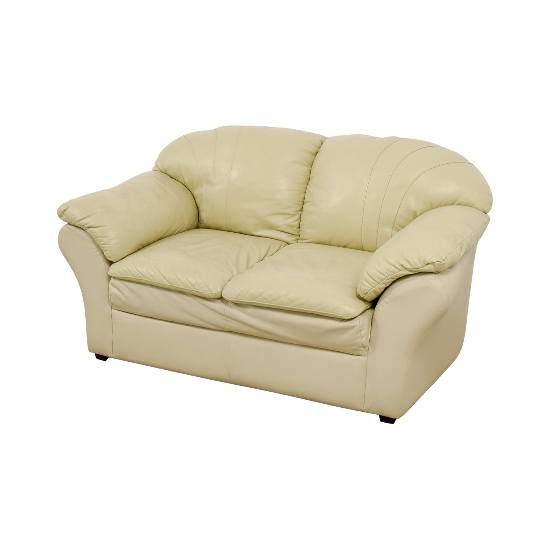 Mals Brooklyn Furniture Mals Brooklyn Furniture Vanilla Leather Love Seat nj