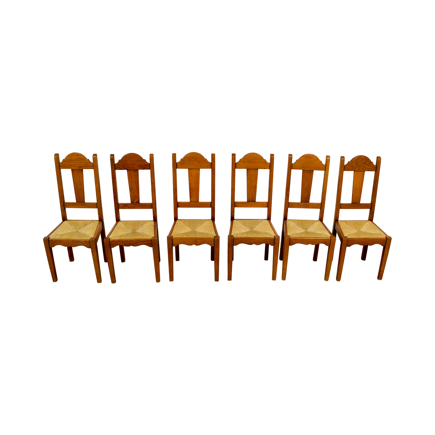 ABC Carpet and Home ABC Carpet and Home Rush Weave Wood Chairs on sale