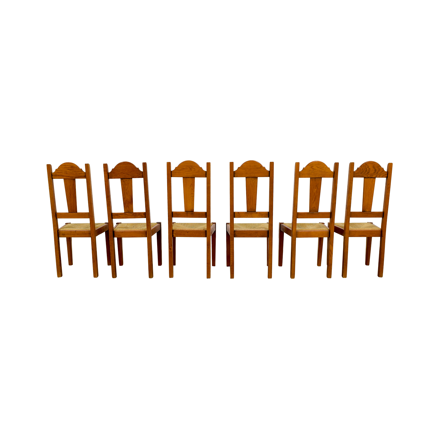 Shop ABC Carpet And Home Rush Weave Wood Chairs