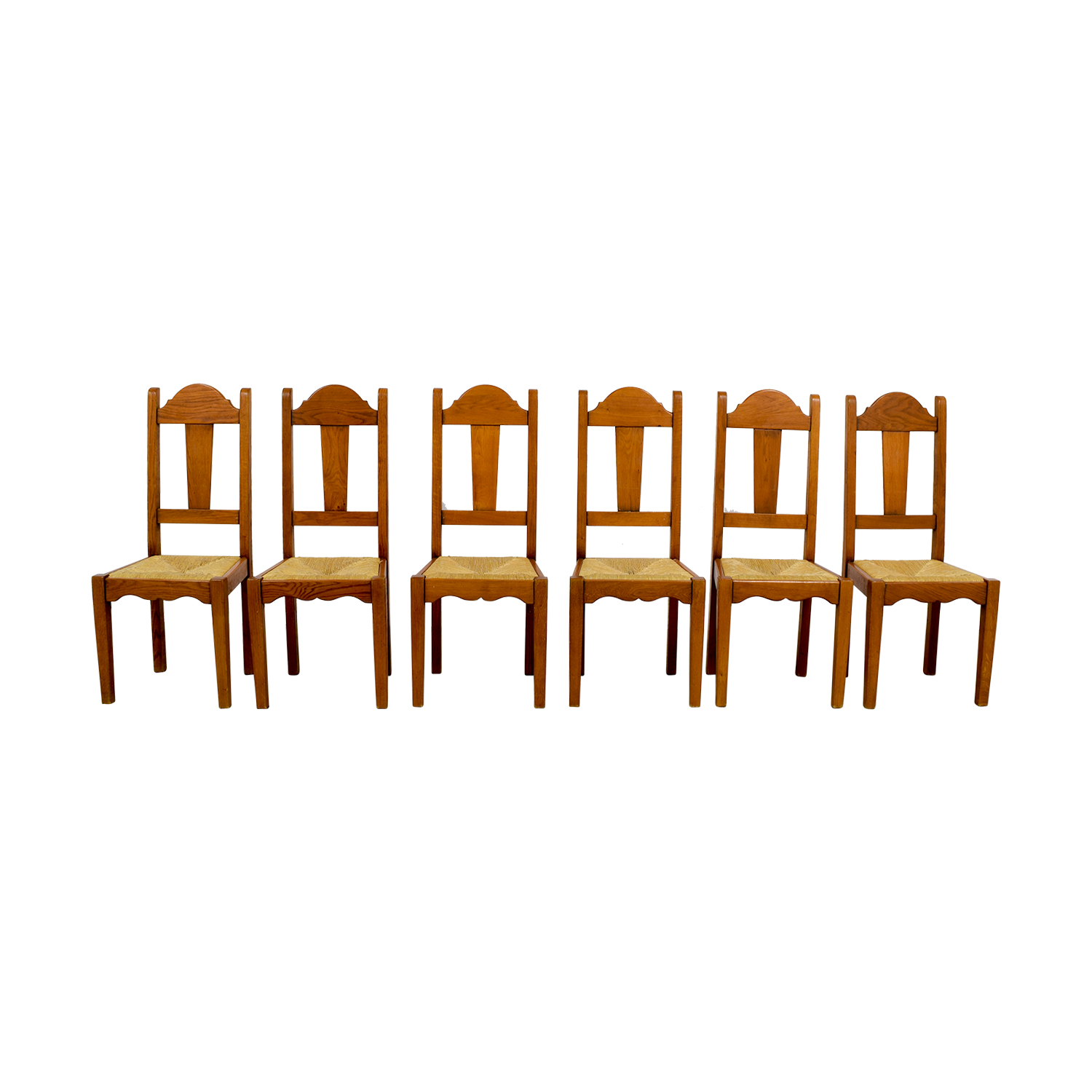 ABC Carpet and Home Rush Weave Wood Chairs / Dining Chairs