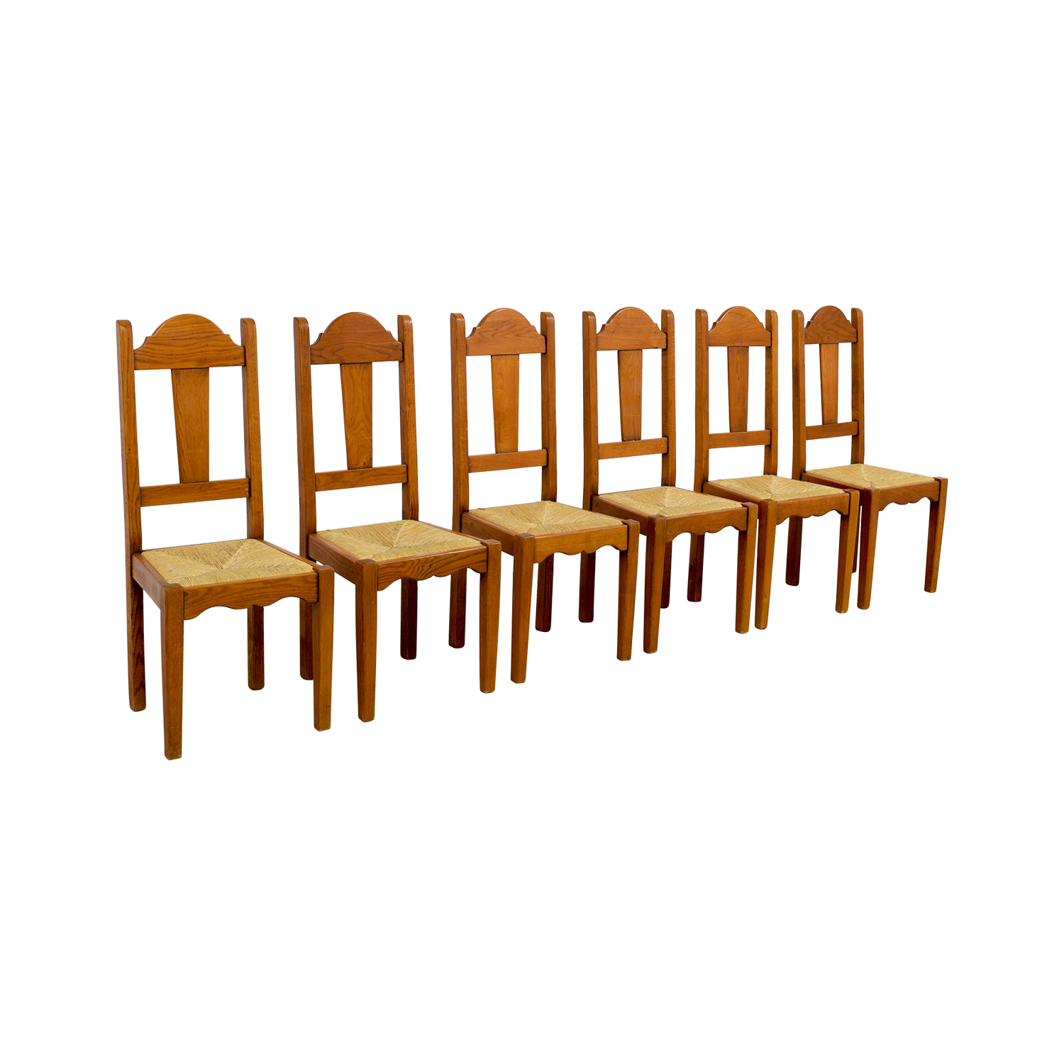 ABC Carpet and Home ABC Carpet and Home Rush Weave Wood Chairs