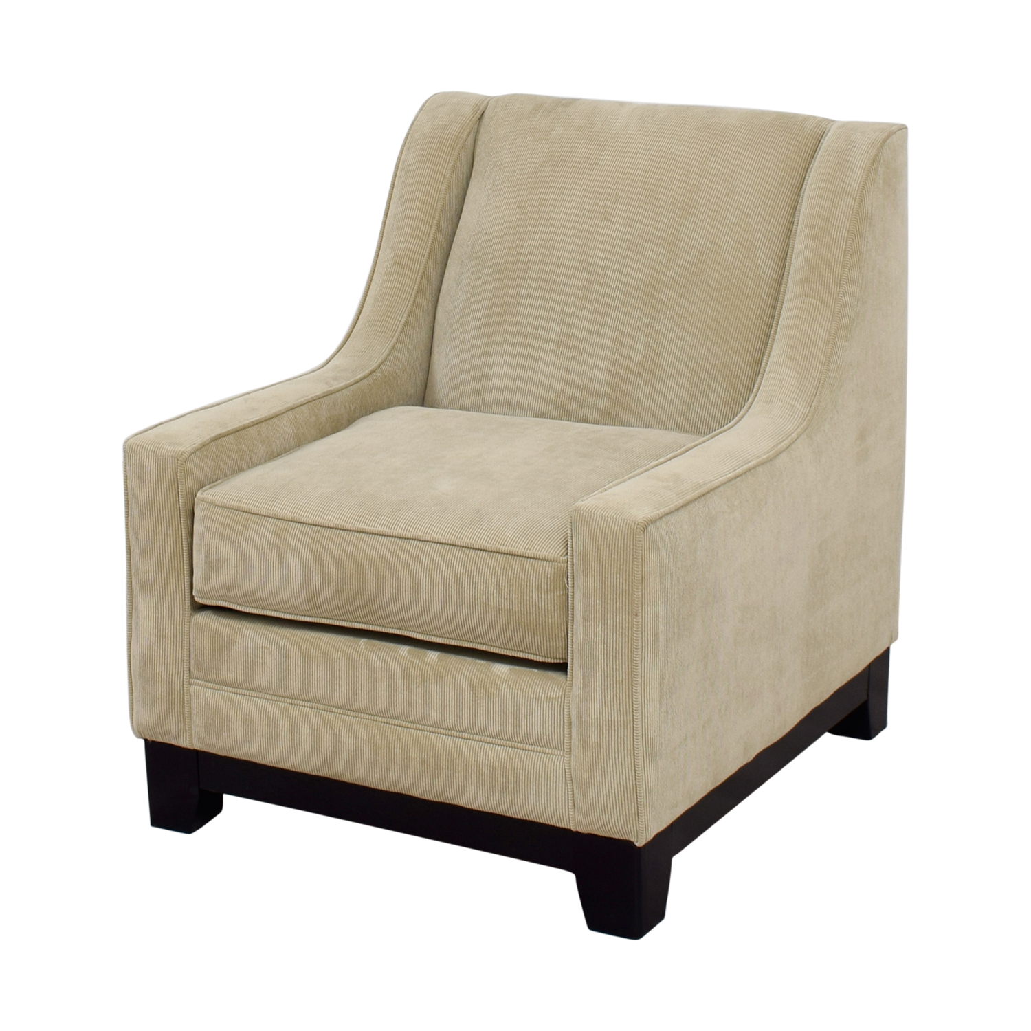 Amazing ... May Furniture May Furniture Tan Corduroy Accent Chair Second Hand ...