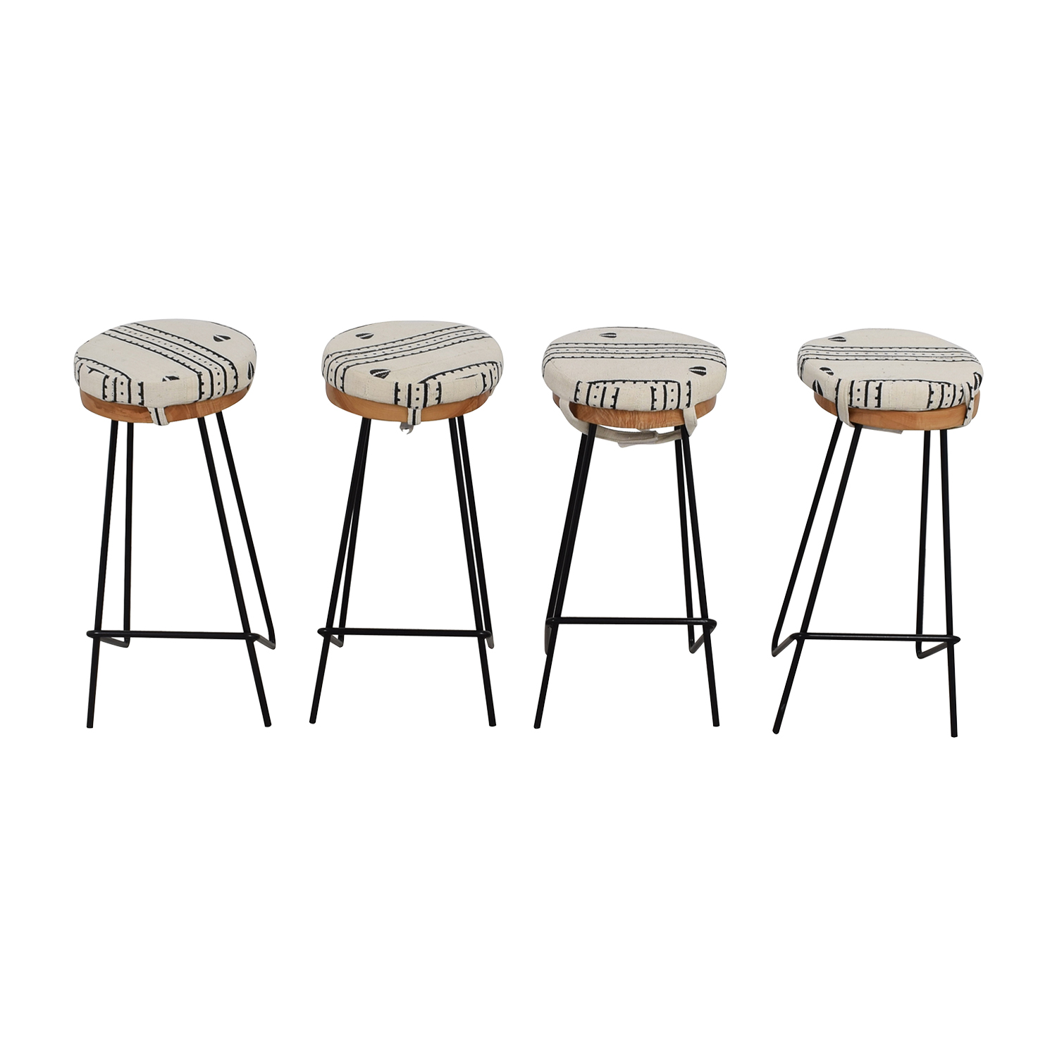 shop Urban Lumber Company Custom Walnut and Steel Bar Stools Urban Lumber Company Chairs