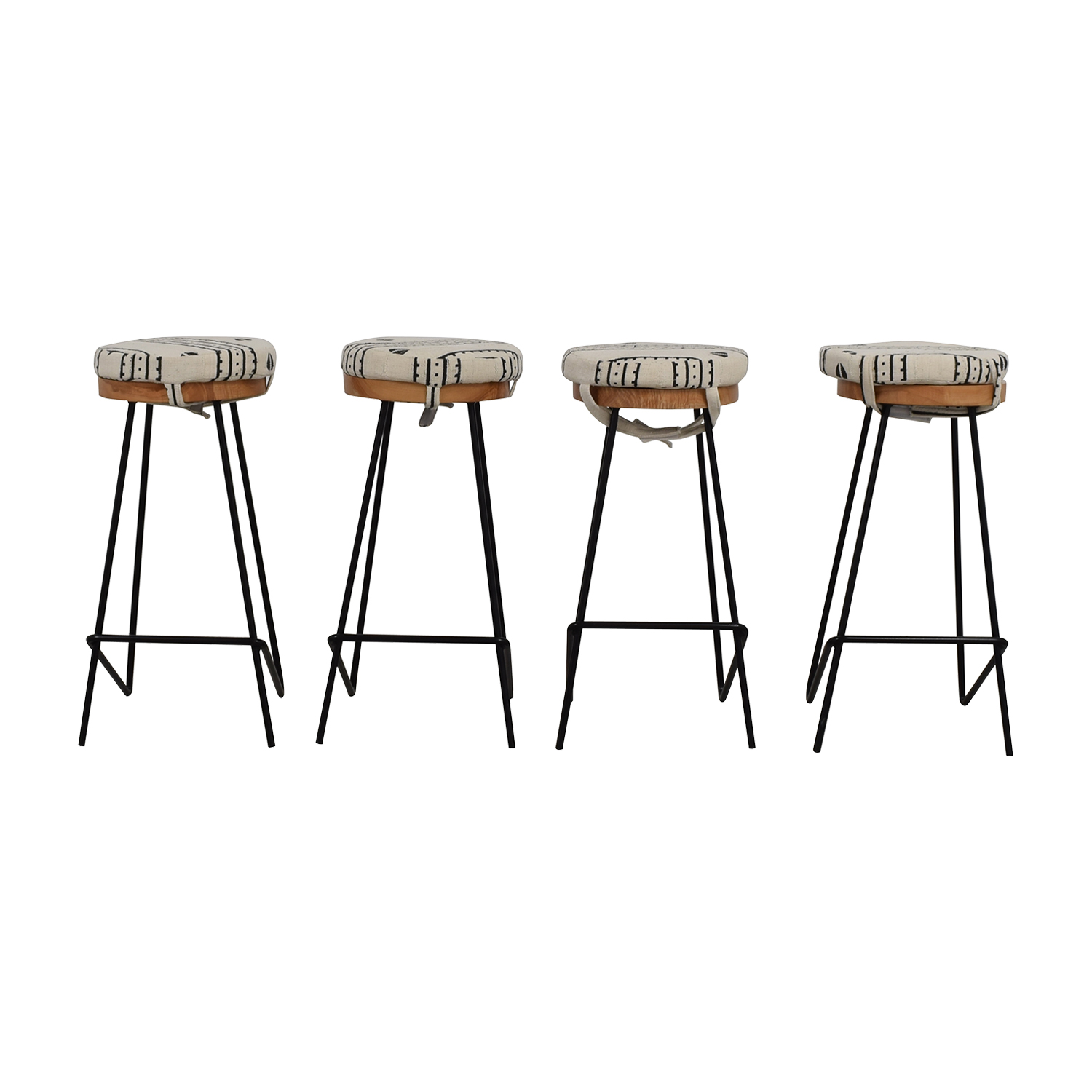 buy Urban Lumber Company Custom Walnut and Steel Bar Stools Urban Lumber Company Chairs