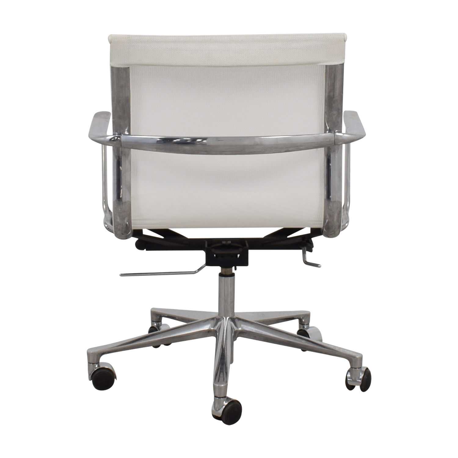 buy International Catsana Furniture Una White Mesh Chair International Catsana Furniture