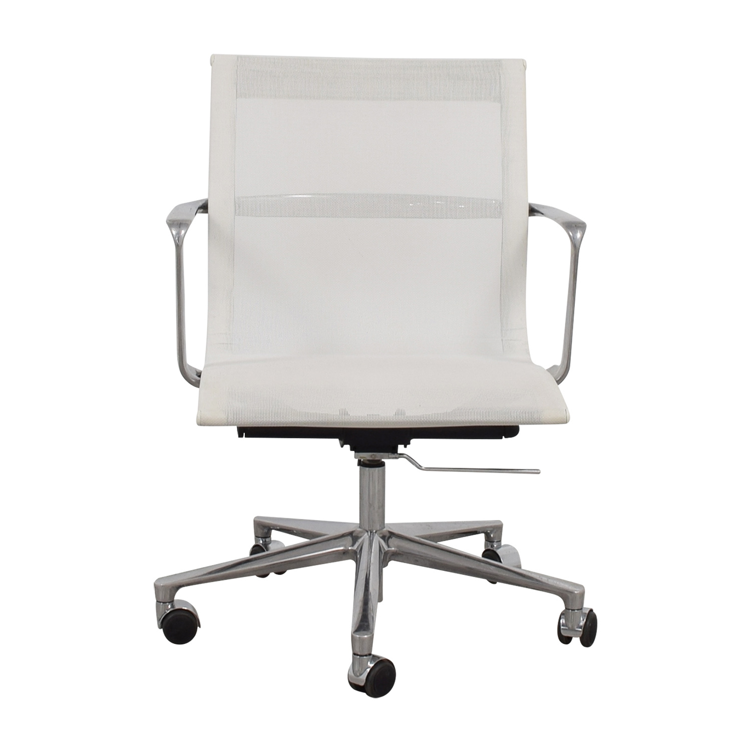 International Catsana Furniture International Catsana Furniture Una White Mesh Chair Home Office Chairs