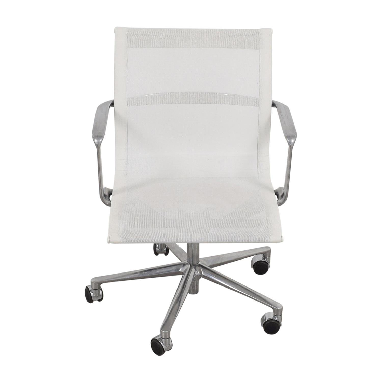 International Catsana Furniture International Catsana Furniture White Mesh Aluminum Chair for sale