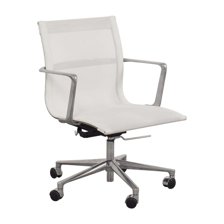 International Catsana Furniture International Catsana Furniture White Mesh Aluminum Chair nj