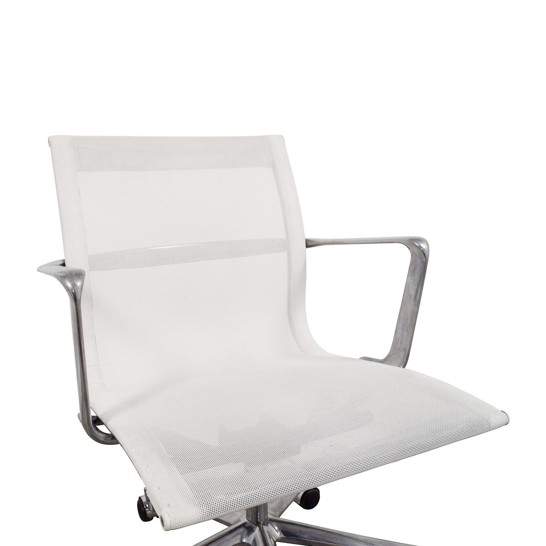 shop International Catsana Furniture White Mesh Aluminum Chair International Catsana Furniture