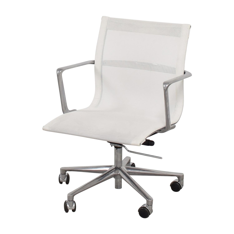 buy International Catsana Furniture White Mesh Aluminum Chair International Catsana Furniture