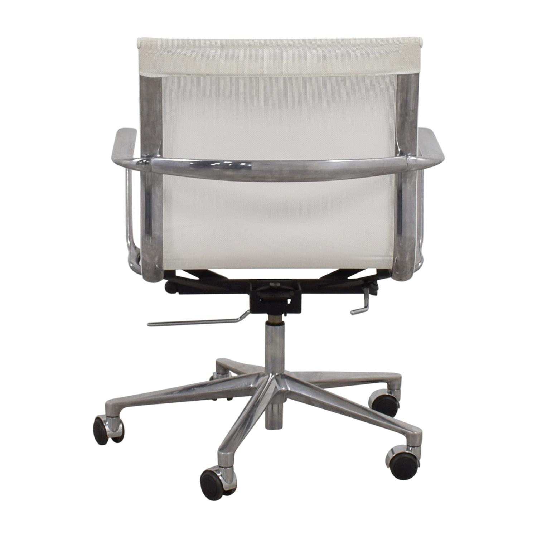 shop International Catsana Furniture White Mesh Aluminum Chair International Catsana Furniture Chairs