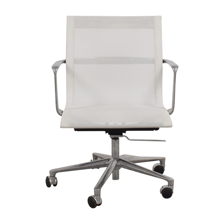 International Catsana Furniture White Mesh Aluminum Chair International Catsana Furniture