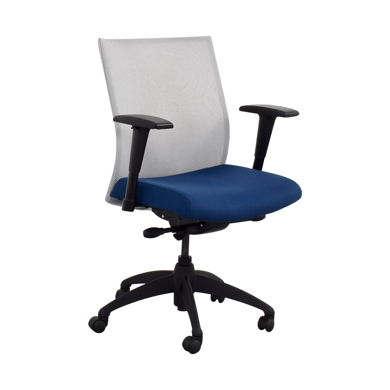 blue task chair. Stylex Adjustable Arm Blue Task Chair Price Furnishare
