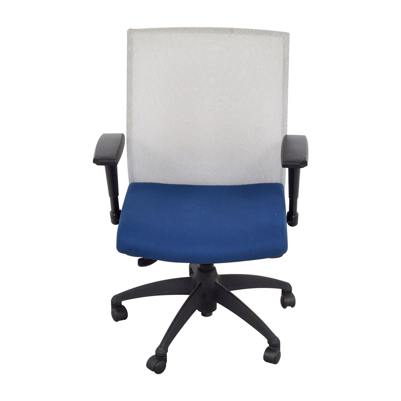 buy Stylex Blue Arm Task Chair Stylex