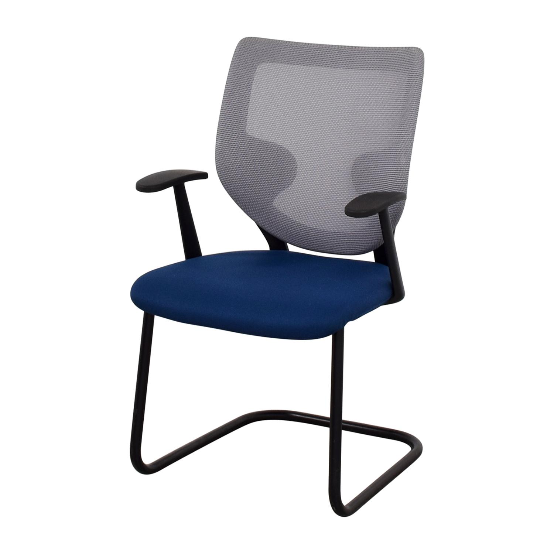 29% OFF Keilhauer Keilhauer Blue Mesh Chair Chairs