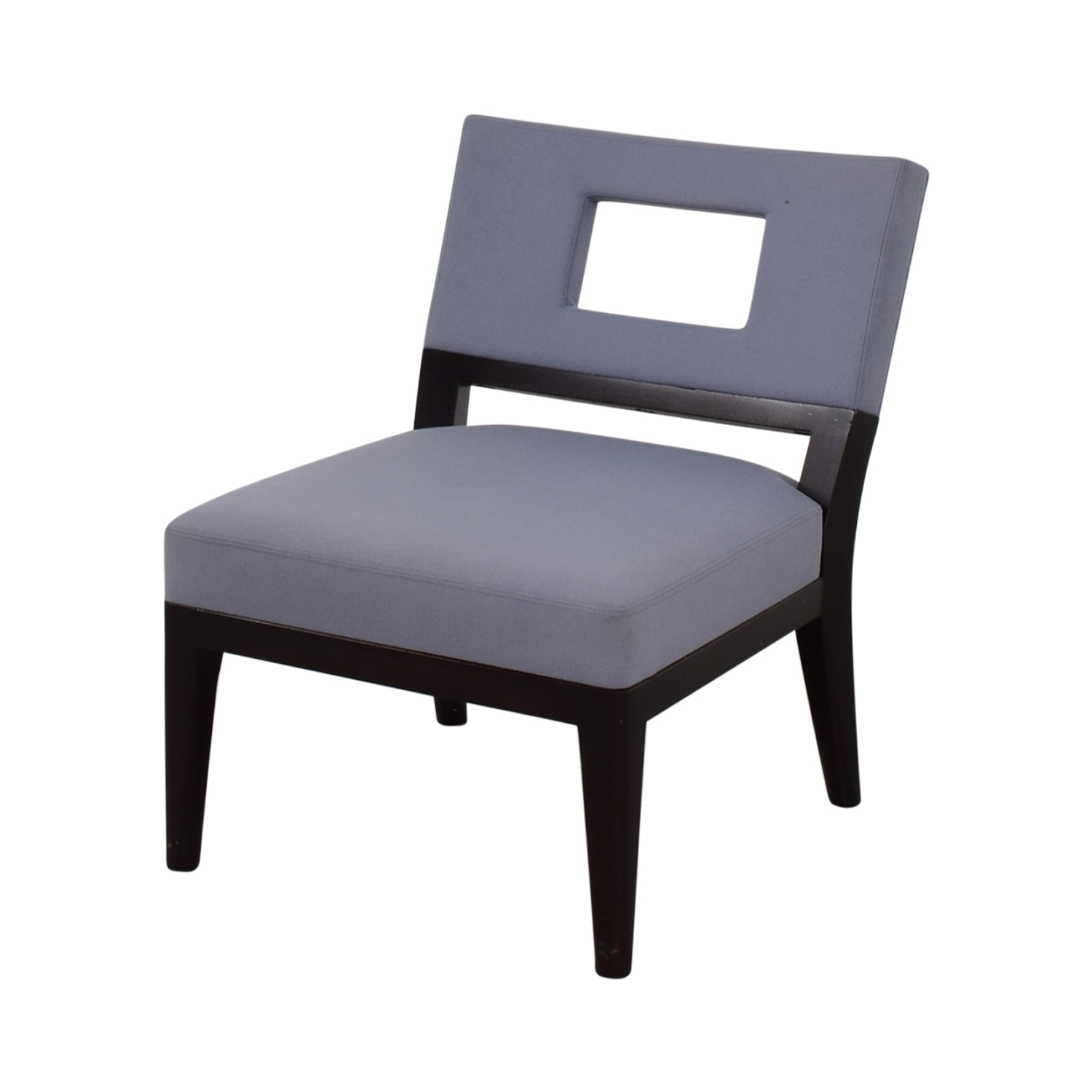 Christian Liaigre Light Blue Upholstered Chair / Chairs