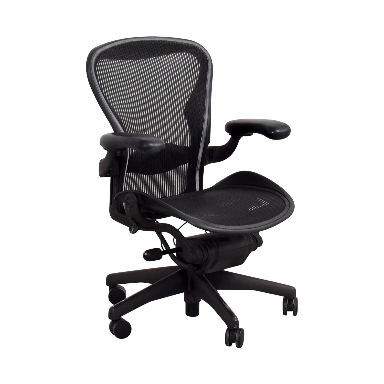 64 off herman miller herman miller aeron miller black desk chair chairs - Herman miller home office furniture ...