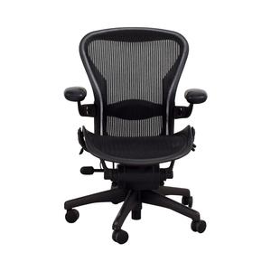 shop Herman Miller Aeron Miller Black Desk Chair Herman Miller