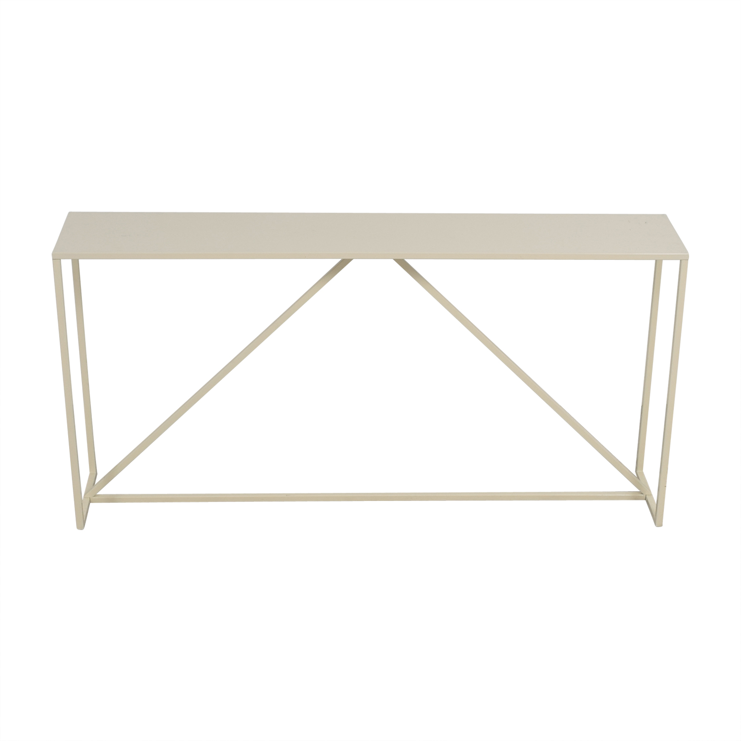 Blue Dot Blue Dot White Lacquer Console Tables