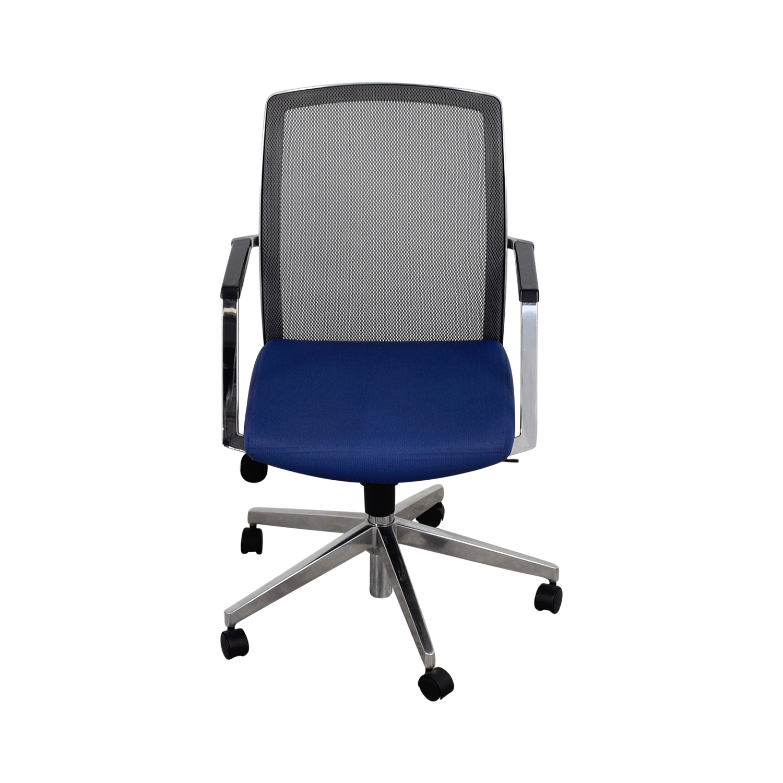 blue task chair. Interstuhl X262 Standard Blue Mesh Task Chair Coupon