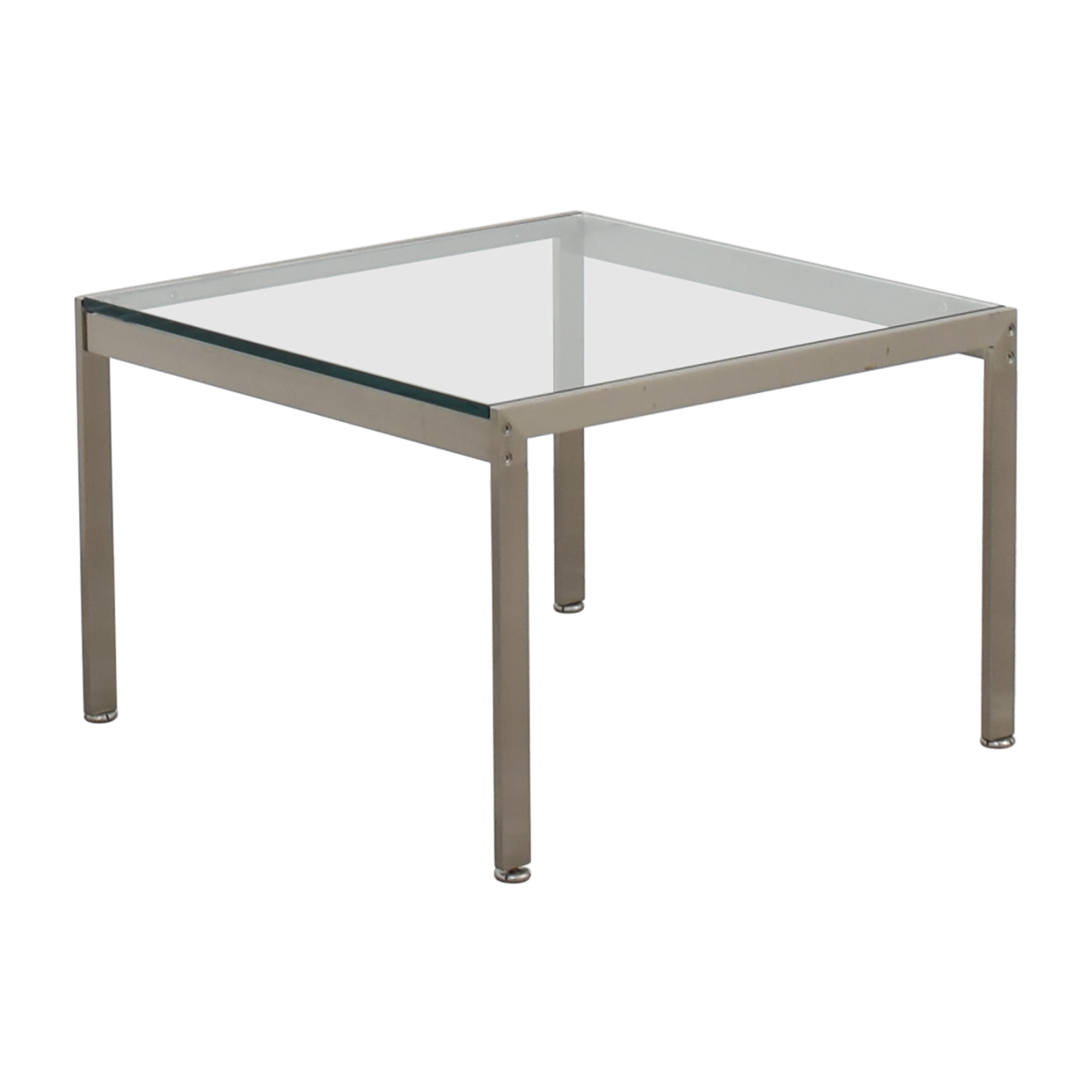 glass side table. Geiger Metal And Glass Side Table End Tables