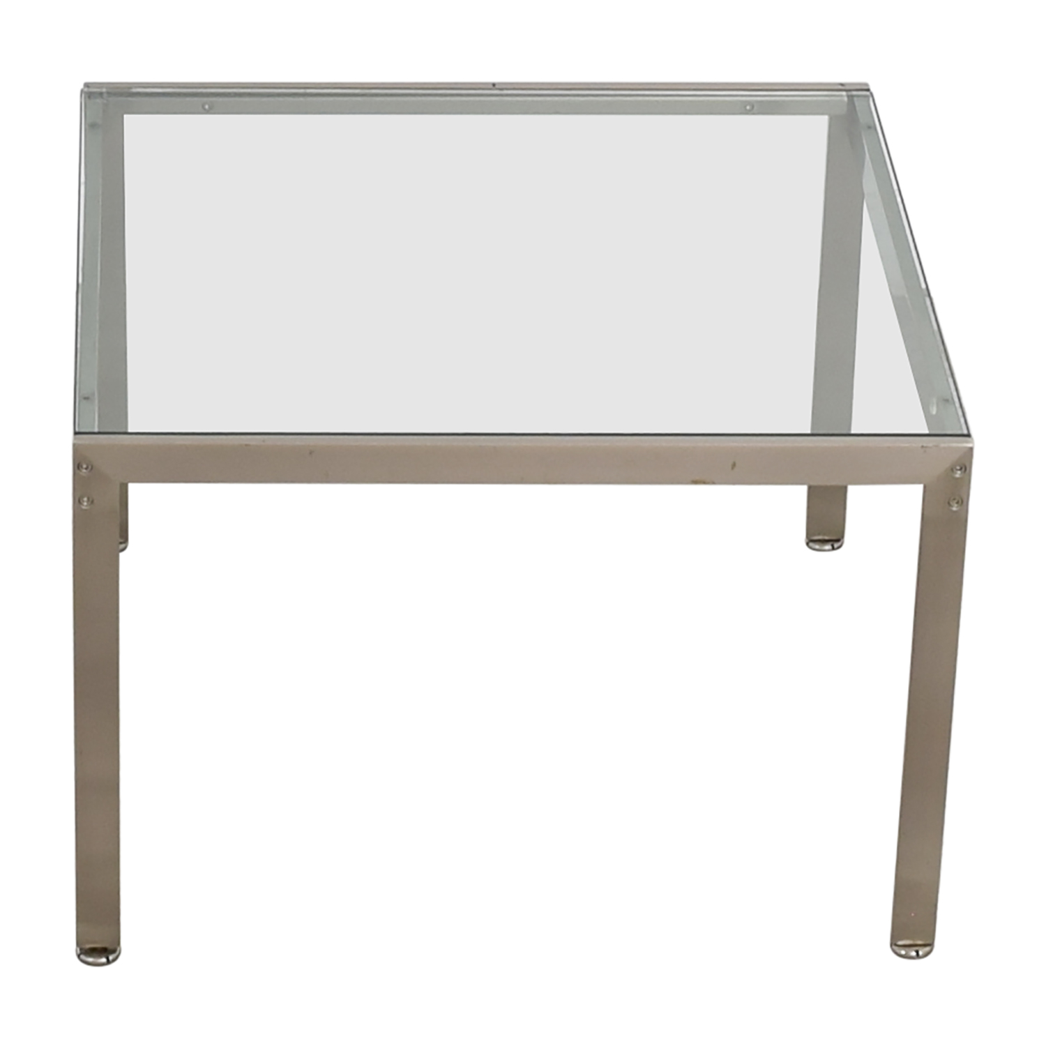 Buy Geiger Metal And Glass Side Table Geiger