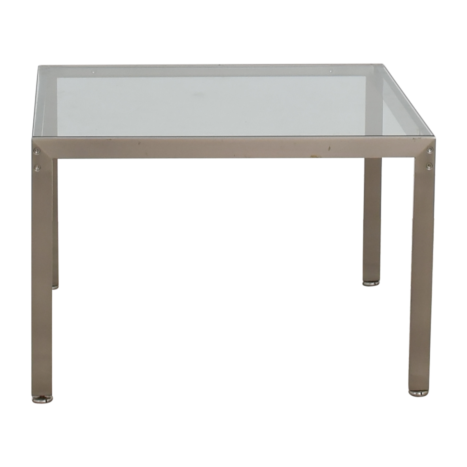 90 Off Geiger Geiger Metal And Glass Side Table Tables