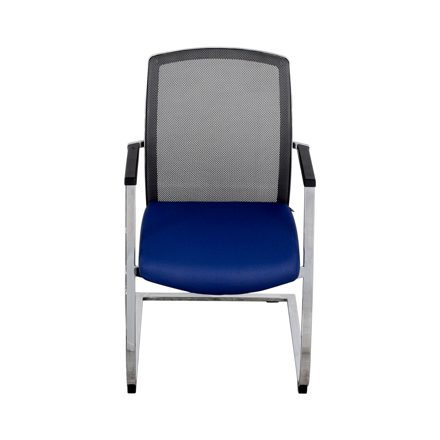 Interstuhl X565 Blue and Chrome Chair / Accent Chairs