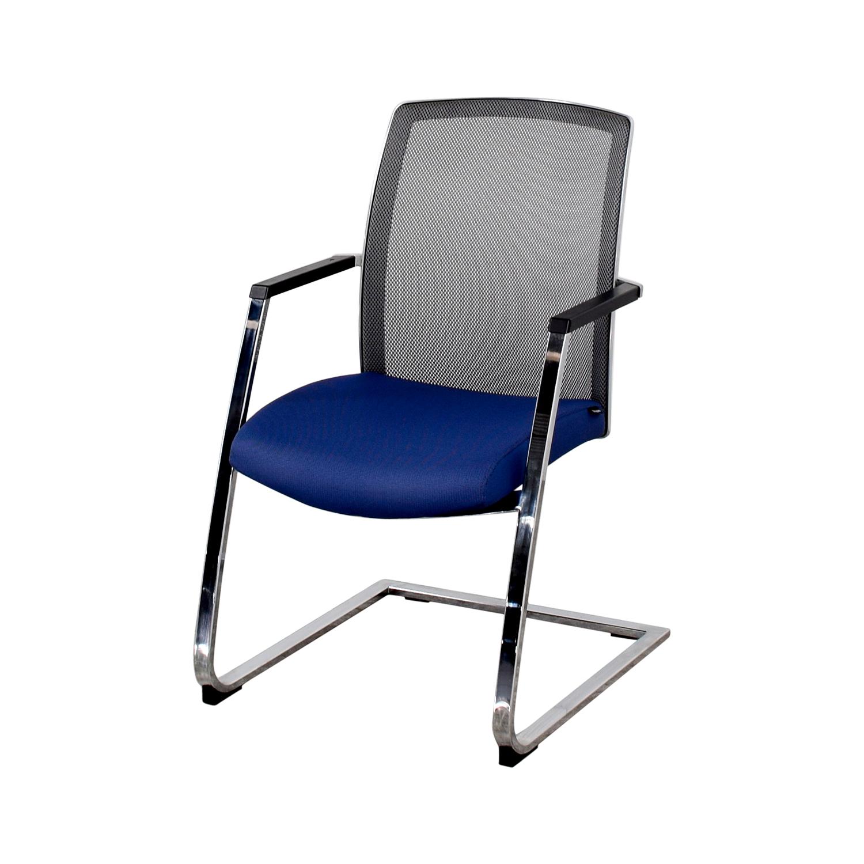 Interstuhl Interstuhl X565 Blue and Chrome Chair blue