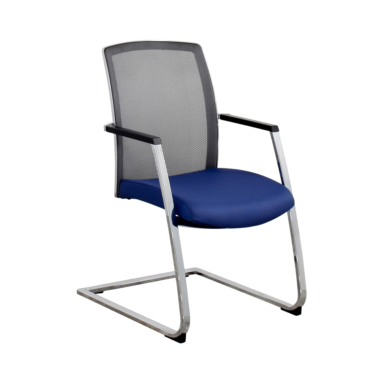 Interstuhl X565 Blue and Chrome Chair Interstuhl