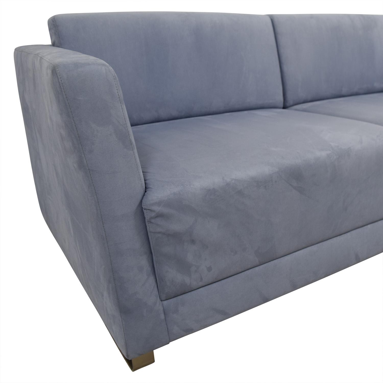 Bernhardtt Bernhardt Milix Light Blue Sofa Classic Sofas