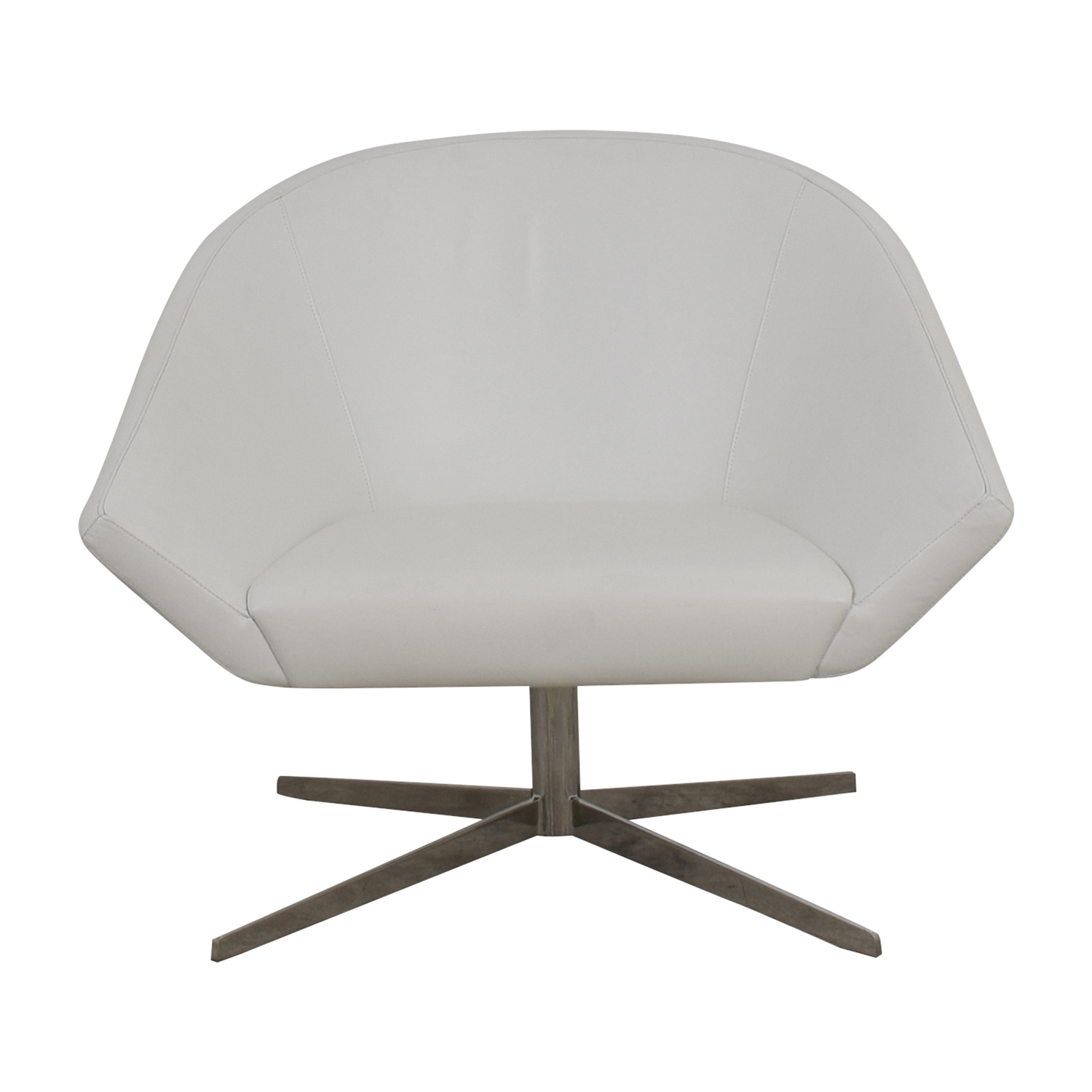 buy Bernhardt Remy Fundamental White Chair Benhardt