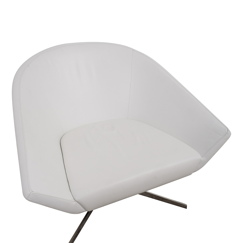 buy Bernhardt Remy Fundamental White Chair Benhardt Accent Chairs