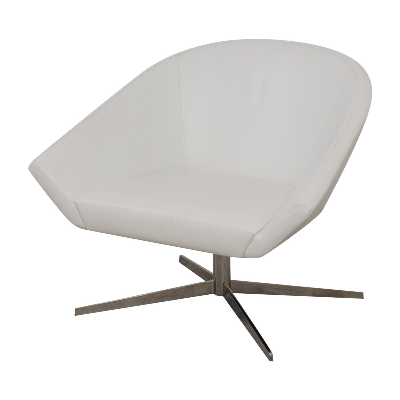 Benhardt Bernhardt Remy Fundamental White Chair Chairs